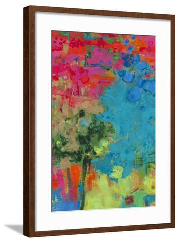 The Peacock-Janet Bothne-Framed Art Print