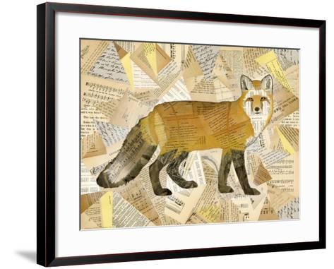 Red Fox Collage I-Nikki Galapon-Framed Art Print