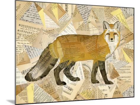Red Fox Collage I-Nikki Galapon-Mounted Art Print