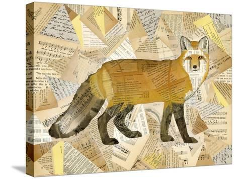 Red Fox Collage I-Nikki Galapon-Stretched Canvas Print