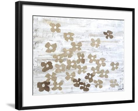 Stenciled Posies II-Natalie Avondet-Framed Art Print