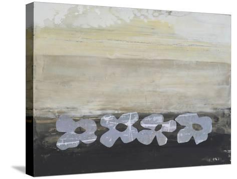 Stenciled Posies V-Natalie Avondet-Stretched Canvas Print