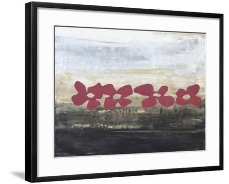 Stenciled Posies III-Natalie Avondet-Framed Art Print
