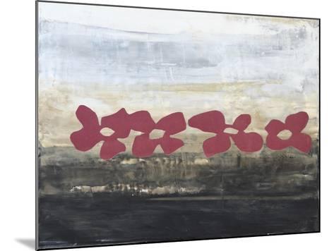 Stenciled Posies III-Natalie Avondet-Mounted Art Print