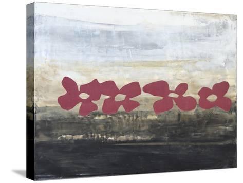 Stenciled Posies III-Natalie Avondet-Stretched Canvas Print