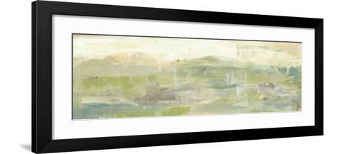 Greenery Horizon Line III-Jennifer Goldberger-Framed Art Print