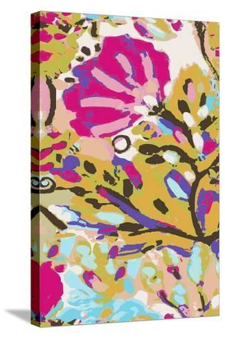 Pink Boho Floral I-Karen  Fields-Stretched Canvas Print