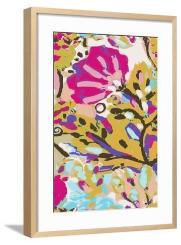 Pink Boho Floral I-Karen  Fields-Framed Art Print