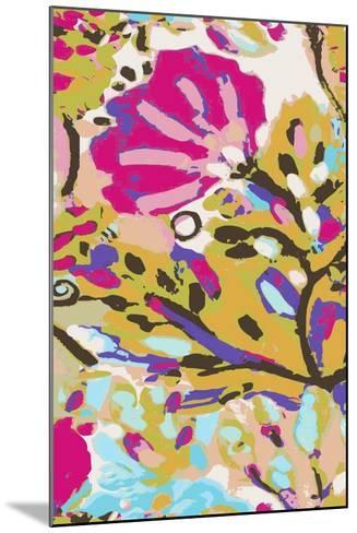 Pink Boho Floral I-Karen  Fields-Mounted Art Print