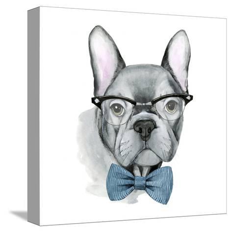 Vintage Pup IV-Grace Popp-Stretched Canvas Print
