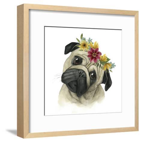 Flower Crown Pup I-Grace Popp-Framed Art Print