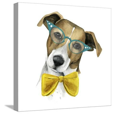 Vintage Pup II-Grace Popp-Stretched Canvas Print
