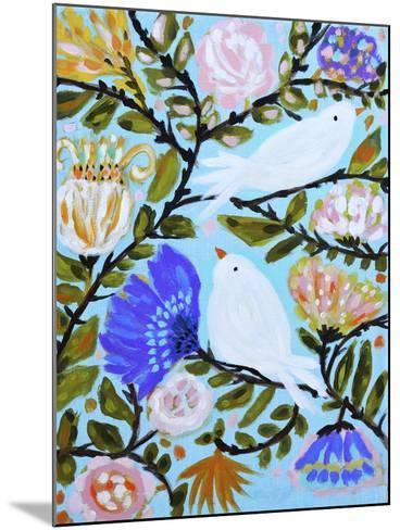 Sweet Love Birds II-Karen  Fields-Mounted Art Print