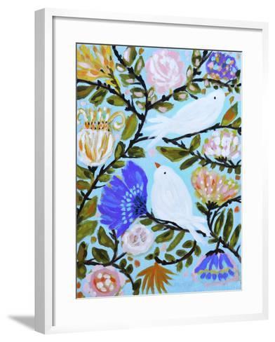 Sweet Love Birds II-Karen  Fields-Framed Art Print