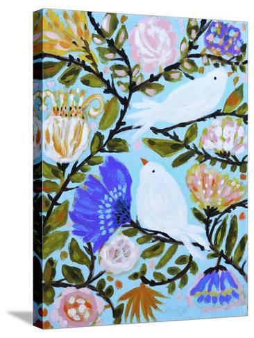 Sweet Love Birds II-Karen  Fields-Stretched Canvas Print