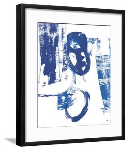Blue Scribbles II-Vision Studio-Framed Art Print