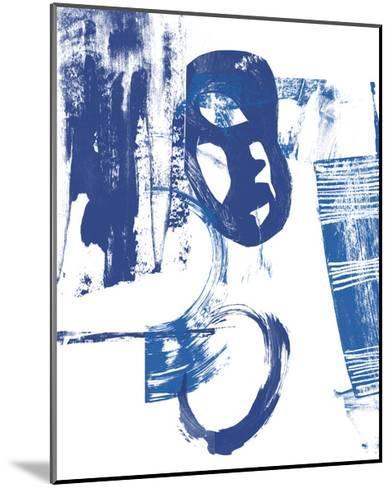 Blue Scribbles II-Vision Studio-Mounted Art Print
