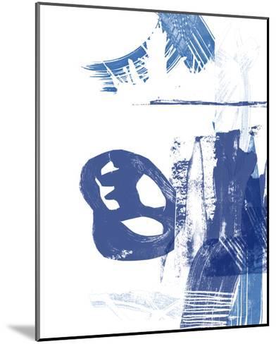 Blue Scribbles I-Vision Studio-Mounted Art Print