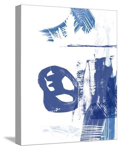 Blue Scribbles I-Vision Studio-Stretched Canvas Print
