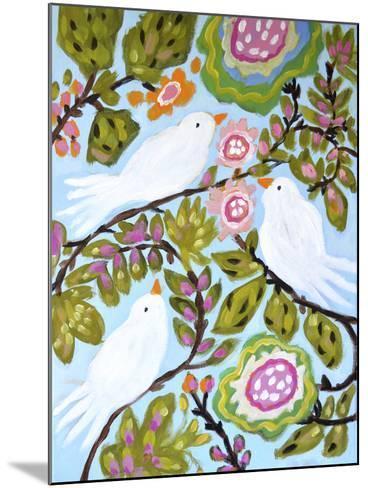 Sweet Love Birds I-Karen  Fields-Mounted Art Print