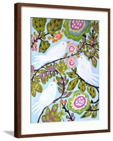 Sweet Love Birds I-Karen  Fields-Framed Art Print