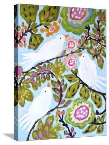 Sweet Love Birds I-Karen  Fields-Stretched Canvas Print
