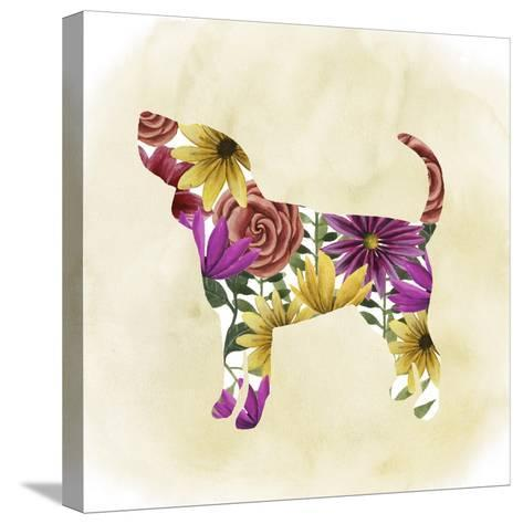 Flower Power Pup IV-Grace Popp-Stretched Canvas Print