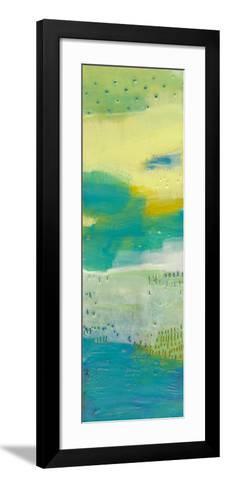 Teal Dot Panels I-Sue Jachimiec-Framed Art Print