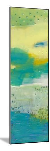 Teal Dot Panels I-Sue Jachimiec-Mounted Art Print