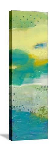 Teal Dot Panels I-Sue Jachimiec-Stretched Canvas Print