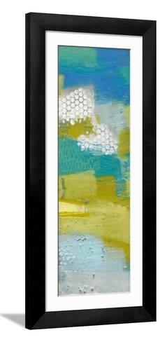 Teal Dot Panels II-Sue Jachimiec-Framed Art Print