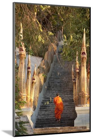 Barefooted Buddhist Monks in Chiang Mai Thailand-10 FACE-Mounted Photographic Print