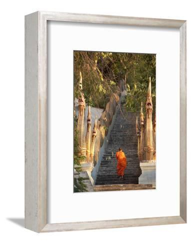 Barefooted Buddhist Monks in Chiang Mai Thailand-10 FACE-Framed Art Print