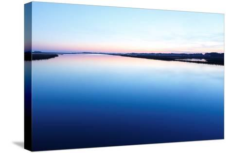 Chincoteague National Wildlife Refuge after Sunset, Virginia, Usa.-Jay Yuan-Stretched Canvas Print