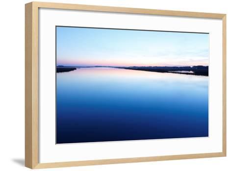 Chincoteague National Wildlife Refuge after Sunset, Virginia, Usa.-Jay Yuan-Framed Art Print