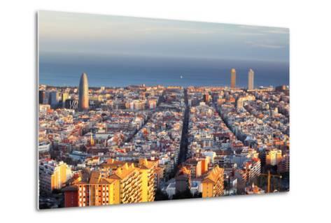 Cityscape of Barcelona, Spain-TTstudio-Metal Print