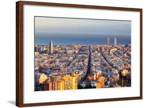Cityscape of Barcelona, Spain-TTstudio-Framed Art Print