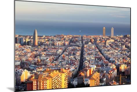 Cityscape of Barcelona, Spain-TTstudio-Mounted Photographic Print