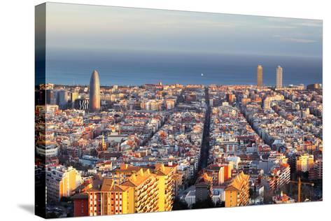 Cityscape of Barcelona, Spain-TTstudio-Stretched Canvas Print
