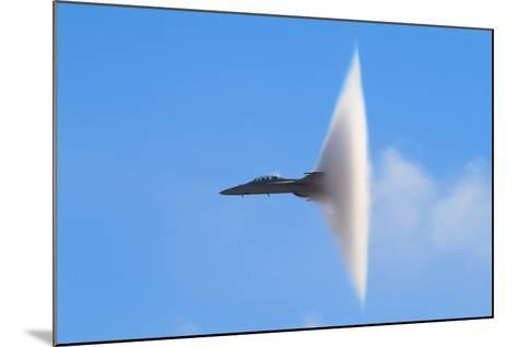 F-18 Super Hornet Vapor Cone - A Distinctive Vapor Cone Forms around the Jet as it Nears the Speed- SVSimagery-Mounted Photographic Print