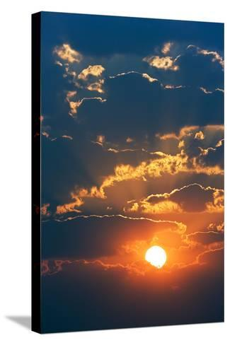Colourful Sunrise Creating Golden Edges around Clouds-Johan Swanepoel-Stretched Canvas Print