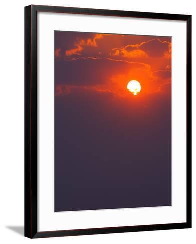 Colourful Sunrise Creating Golden Edges around Clouds-Johan Swanepoel-Framed Art Print