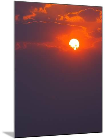 Colourful Sunrise Creating Golden Edges around Clouds-Johan Swanepoel-Mounted Photographic Print