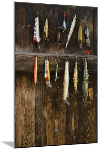 Fishing Lure Hanging on Wall, Sandham, Sweden- BMJ-Mounted Photographic Print