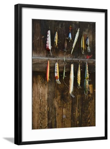 Fishing Lure Hanging on Wall, Sandham, Sweden- BMJ-Framed Art Print
