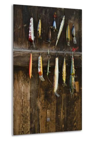 Fishing Lure Hanging on Wall, Sandham, Sweden- BMJ-Metal Print