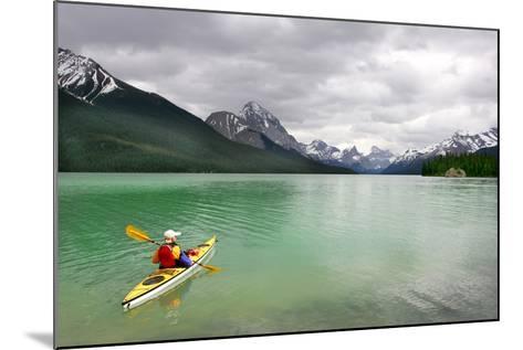 Kayaking in Banff National Park, Canada- oksana perkins-Mounted Photographic Print