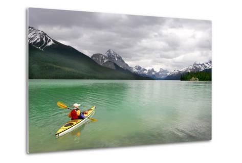 Kayaking in Banff National Park, Canada- oksana perkins-Metal Print
