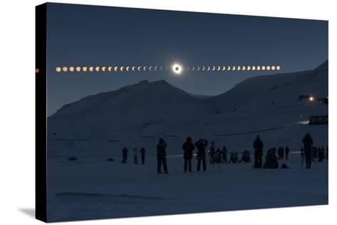 Solar Eclipse Sequence in Svalbard on March 20, 2015-THANAKRIT SANTIKUNAPORN-Stretched Canvas Print