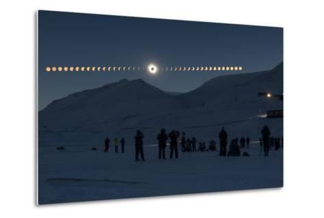 Solar Eclipse Sequence in Svalbard on March 20, 2015-THANAKRIT SANTIKUNAPORN-Metal Print